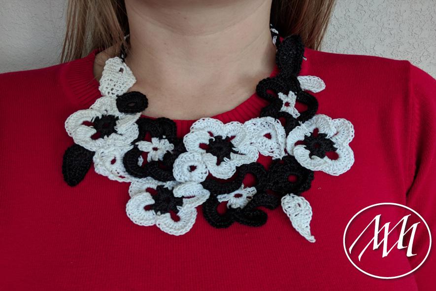 Beautiful Crochet Flower Necklace Michaeli Marler Craft Tutorials