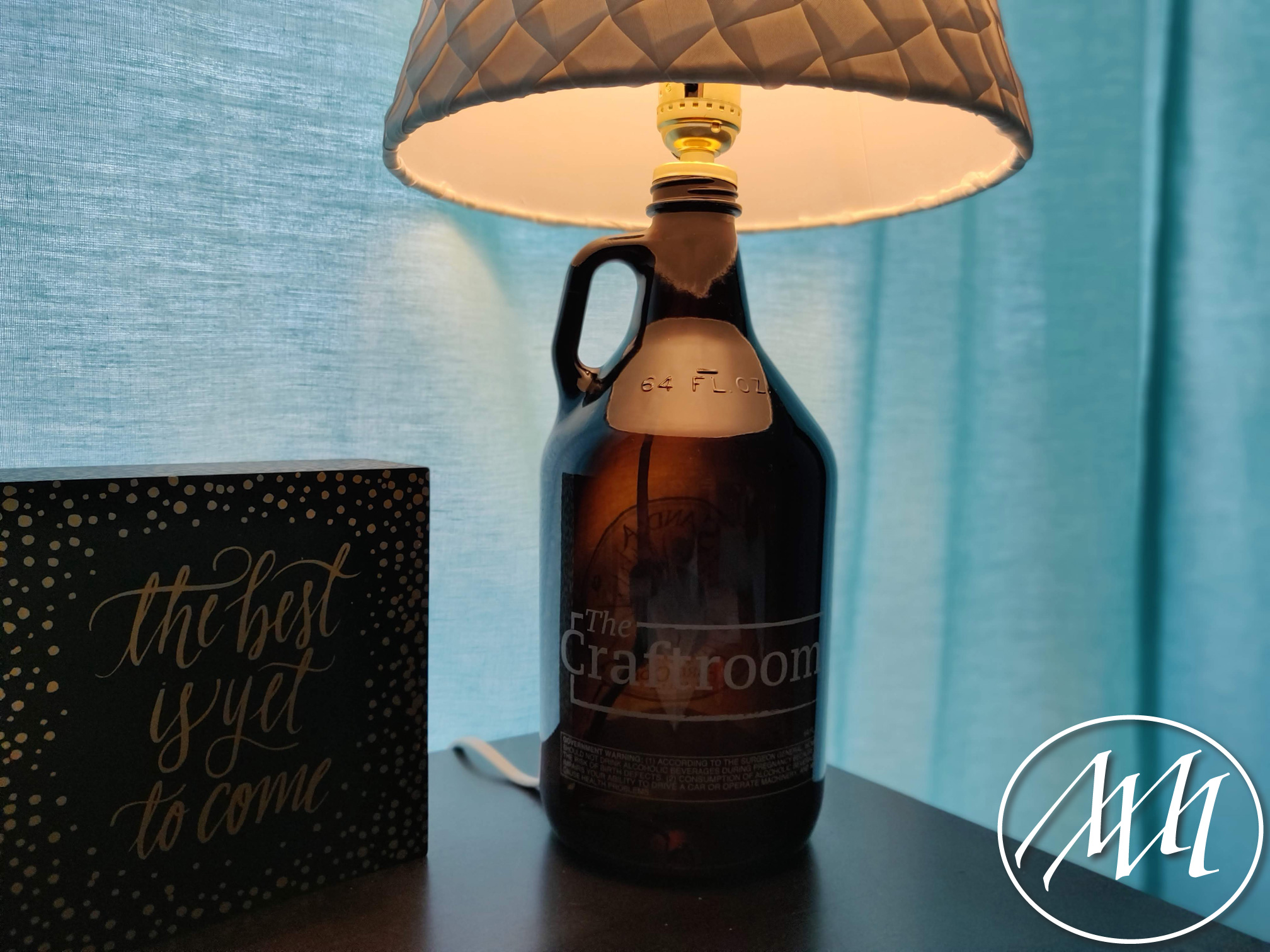 Diy Growler Bottle Lamp Michaeli Marler Craft Tutorials